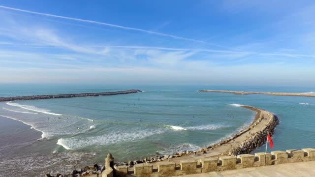 從烏達亞斯的卡斯巴拉巴特海灘全景 - 摩洛哥 - pjphoto69 個影片檔及 b 捲影像