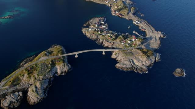 panoramic view of reine, lofoten, norway - scandinavia stock videos & royalty-free footage