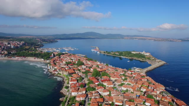 4K Panoramic view of Sozopol, Bulgaria