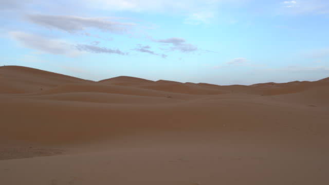 Panoramic view of the dunes of Erg Chebbi, Saharan Morocco