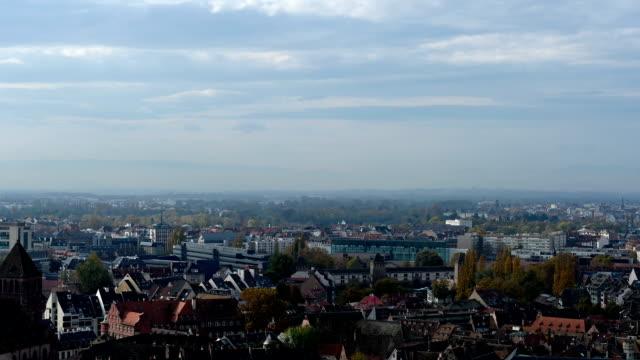 vidéos et rushes de vue panoramique de la strasbourg france - strasbourg