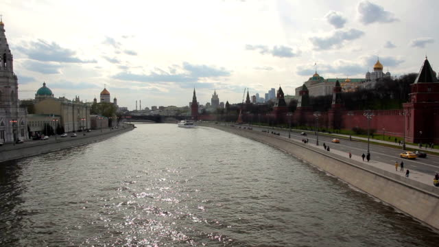 Panoramic view of the Moscow Kremlin and Moscow river