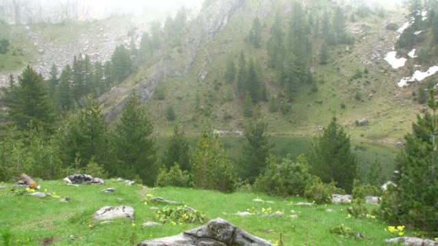 panoramic view of the prokletije mountains (albanian alps; accursed mountains) in kosovo - off the beaten path stock videos & royalty-free footage