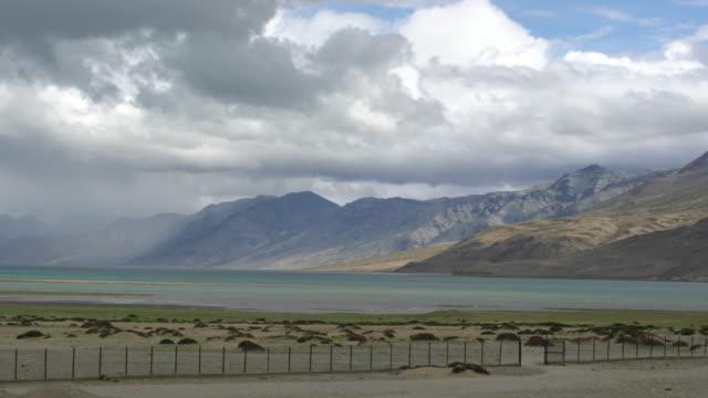Panoramic view of the Tso Moriri Lake in Ladakh, India