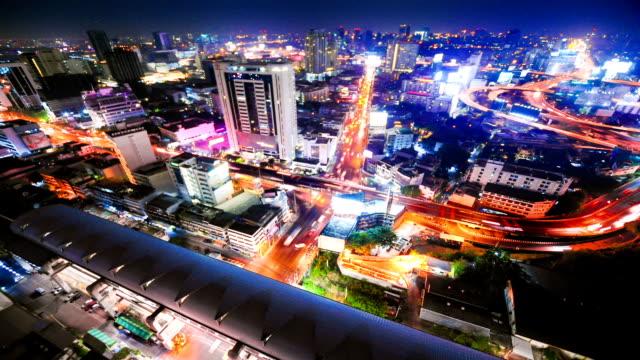 stockvideo's en b-roll-footage met panoramic view of urban landscape in bangkok thailand - kapiteel