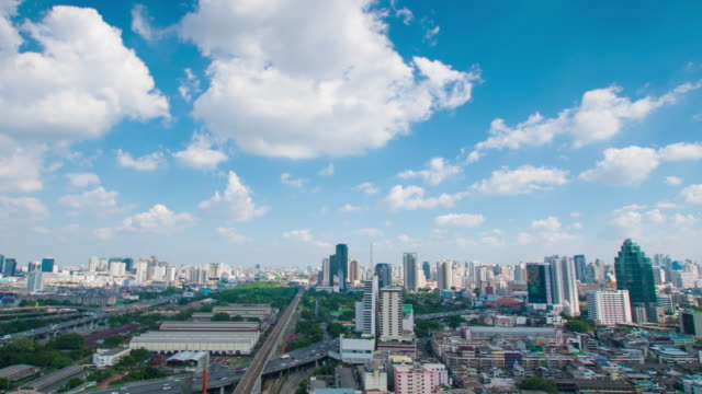 4K : Panoraminc view of bangkok