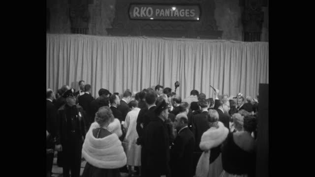 vídeos de stock e filmes b-roll de pantages theater, hollywood, california. - pantages theater