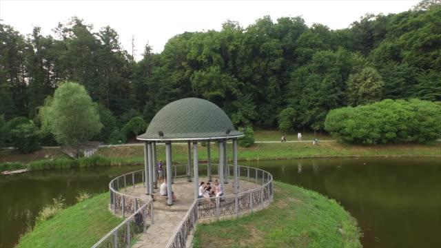 panteleimon monastery, feofania park - gazebo stock videos & royalty-free footage