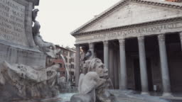 Pantheon and Fountain, Rome, Italy