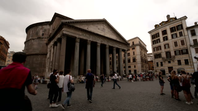 pantheon exterior, rome - pantheon rome stock videos and b-roll footage