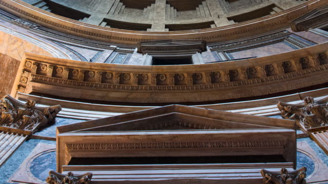 pantheon in rome - frontgiebel stock-videos und b-roll-filmmaterial
