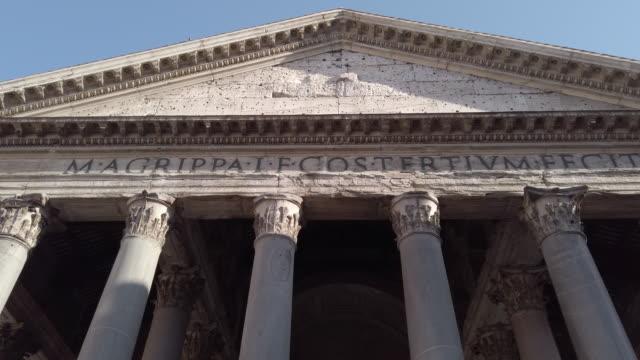 pantheon, rome, italy - roman stock videos & royalty-free footage