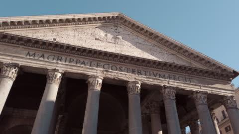 pantheon, rom, italien - fronton bildbanksvideor och videomaterial från bakom kulisserna