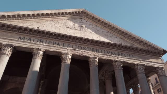 pantheon, rom, italien - rom italien stock-videos und b-roll-filmmaterial