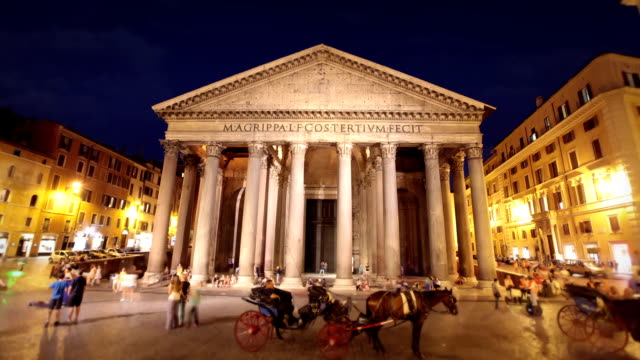 pantheon, rome, italy - pantheon rome stock videos and b-roll footage