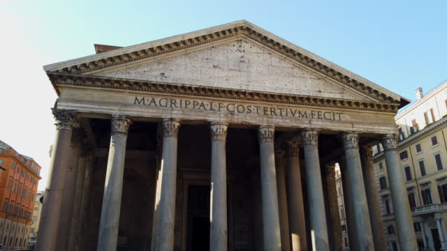 pantheon rome - colonna architettonica video stock e b–roll