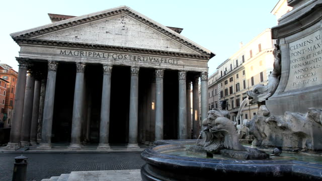 pantheon rome, - pantheon rome stock videos and b-roll footage