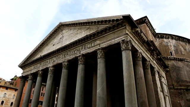 pantheon temple in rome - pantheon rome stock videos and b-roll footage