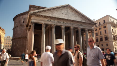 pantheon with tourists - capital letter stock videos & royalty-free footage