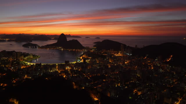 pao acucar or sugar loaf mountain and the bay of botafogo, rio de janeiro, brazil, south america - bay of water stock videos & royalty-free footage