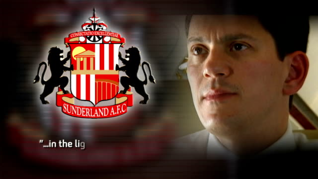 paolo di canio apologies over 'past political statements' of facisim graphic itn lib sources inseparable sunderland logo with miliband on plane and... - channel 4 news stock videos and b-roll footage