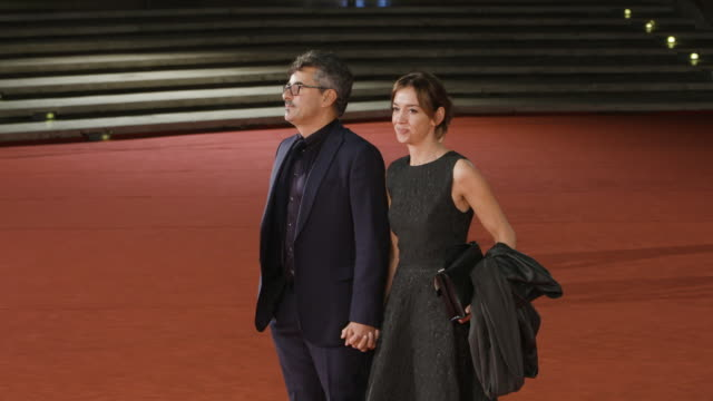 paolo genovese federica rizzo at the place red carpet 12th rome film fest on november 04 2017 in rome italy - rome film fest stock videos and b-roll footage