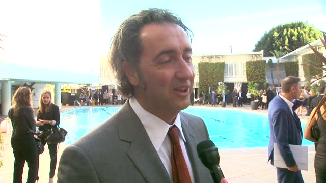 interview paolo sorrentino on being nominated being a part of awards season the oscar luncheon at the 86th academy awards nominee luncheon interviews... - the beverly hilton hotel stock videos & royalty-free footage