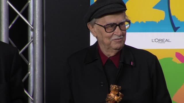 paolo vittorio taviani winners of the golden bear at winners press conference reactions62nd international berlin film festival 2012 at the grand... - paolo taviani stock videos and b-roll footage