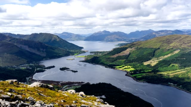 pap of glencoe time-lapse - scottish culture video stock e b–roll
