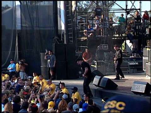papa roach at the kroq's weenie roast on june 15, 2002. - kroq stock videos & royalty-free footage