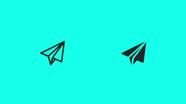 vídeos y material grabado en eventos de stock de papel avión iconos - vector animado - avión de papel
