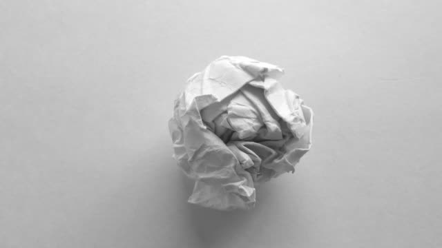 paper ball animated and rotating - paper stock videos & royalty-free footage