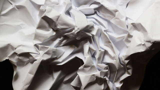 paper ball - crumpled paper stock videos and b-roll footage