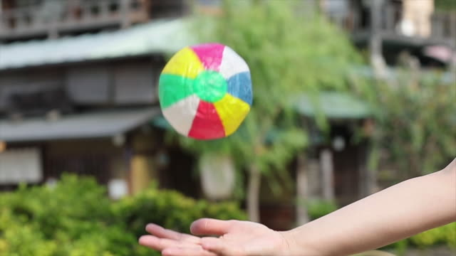 paper balloon, japanese traditional toy. - high speed photography stock videos and b-roll footage