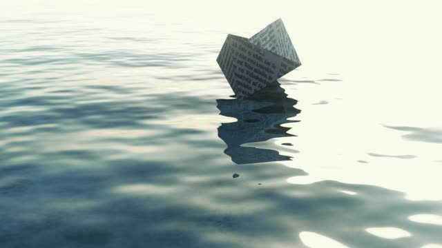paper boat - folding paper stock videos and b-roll footage