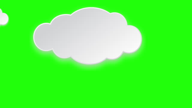 paper clouds - illustration stock videos & royalty-free footage