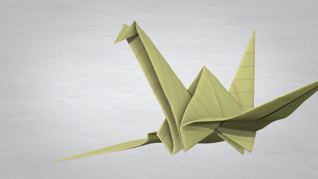 paper crane flies - folding paper stock videos and b-roll footage