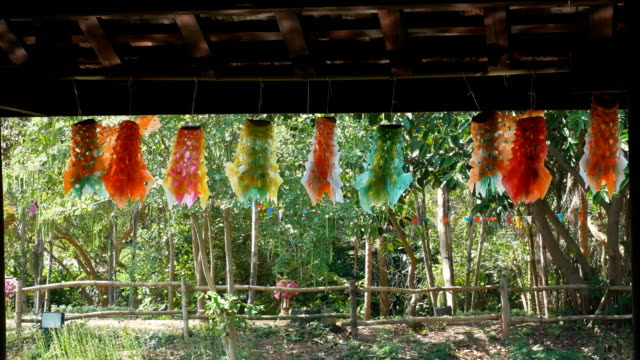 paper hanging mobile thailand culture - hanging mobile stock videos & royalty-free footage