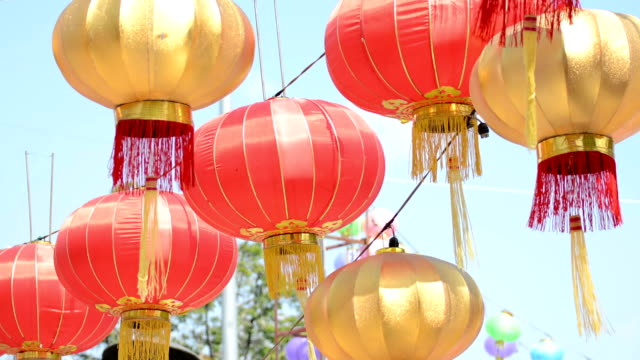 paper lanterns in chinese new year - tassel stock videos & royalty-free footage