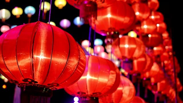 vídeos y material grabado en eventos de stock de faroles papel de año nuevo chino - dragon chino