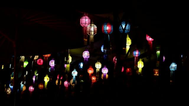 lanterne di carta - lanterna attrezzatura per illuminazione video stock e b–roll