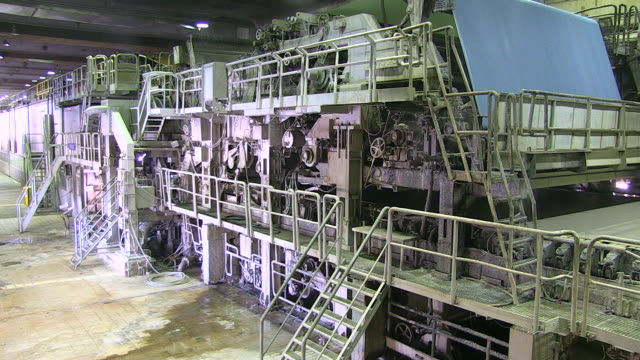 ms paper machine at paper mill / weener, lower saxony, germany - paper mill stock videos and b-roll footage