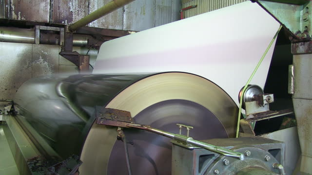 cu paper machine at paper mill / weener, lower saxony, germany - paper mill stock videos and b-roll footage