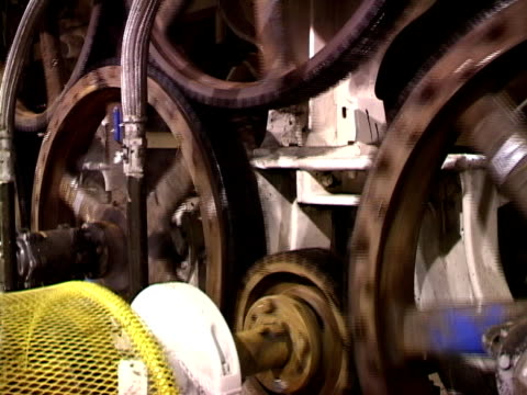 paper mill machinery - paper mill stock videos & royalty-free footage
