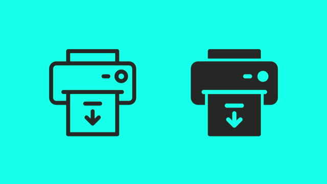 paper output icons - vector animate - global communications vector stock videos & royalty-free footage