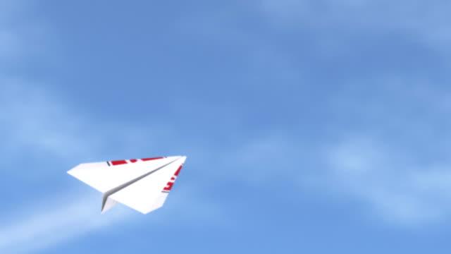 vídeos y material grabado en eventos de stock de avión de papel. - avión de papel