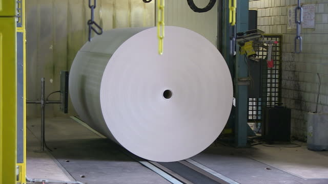 ms paper production at paper mill / weener, lower saxony, germany - paper mill stock videos and b-roll footage