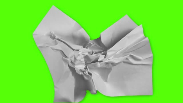 paper wrinkles green screen - drawing activity stock videos & royalty-free footage