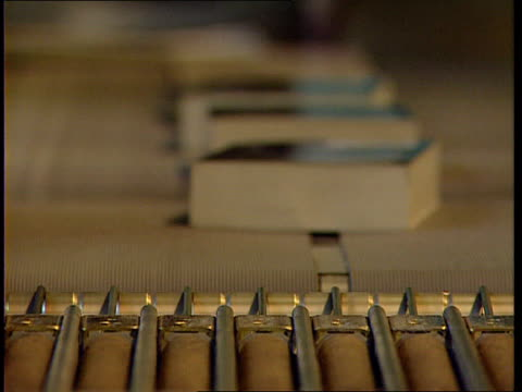 paperback book plan; warehouse music books taken away by worker's hand & put onto conveyor books towards on conveyor tcms paperbacks onto pile cms... - warehouse点の映像素材/bロール