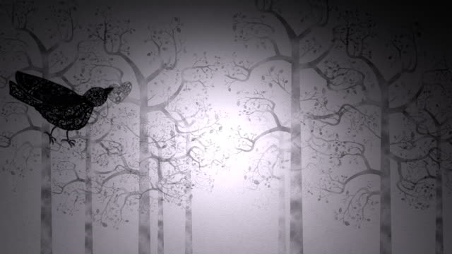 paper-cut love birds - digital animation stock videos & royalty-free footage